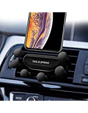 2019 Nuovo Auto-Grip Car Phone Mount, Universal Auto Air Vent Grip Gravity Car Phone Holder, Supporto Automatico Telescopico gravità Staffa Air Vent Mount(black-20)