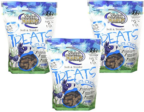 (3 Pack) Nutri Source Soft and Tender Dog Treat - Chicken 6-Ounce