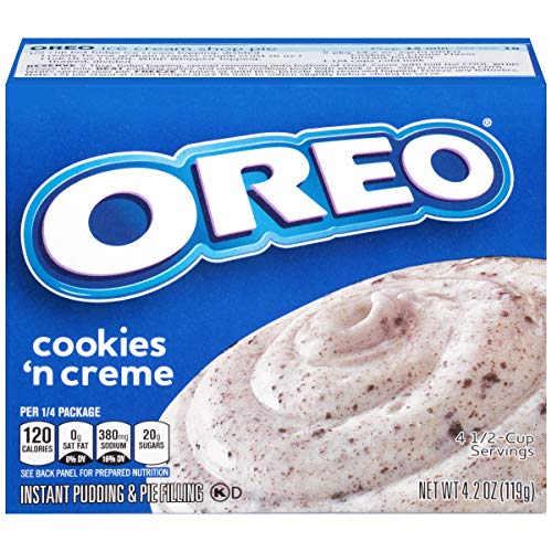 - Jell-O Instant Oreo Cookies 'n Cream Pudding & Pie Filling, 4.2 oz Box