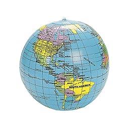 Inflate World Globes (1 Dozen) - Bulk