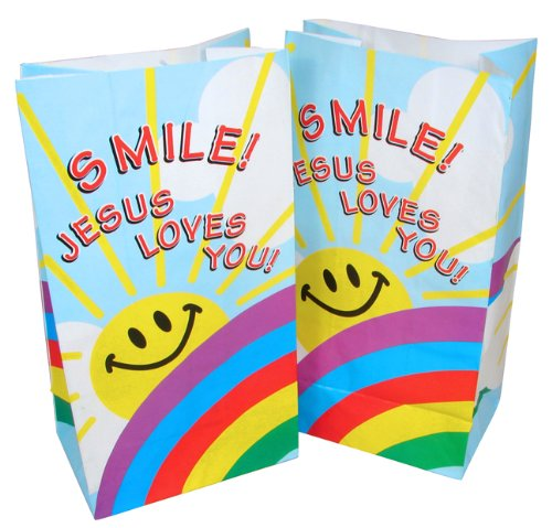 Smile Jesus Loves Treat Bags