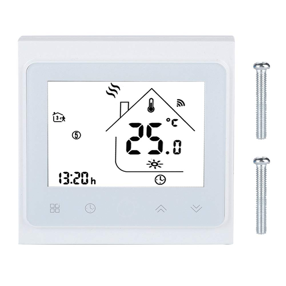 Indoor Smart Thermometer, Wireless LCD Touch Screen Thermostat Temperature Controller for Water Floor Heating by Lazmin