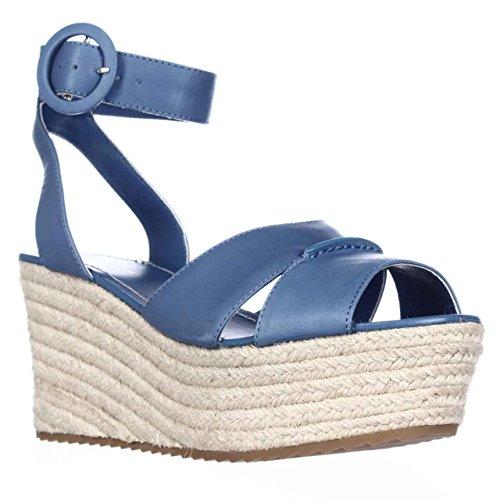 Alice and Olivia Roberta Platform Espadrille Wedge Sandals - Umbrella Blue, 8 M US/38 EU