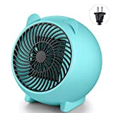 LAYOPO Mini Space Heater, Portable Cartoon Electric Heater Fan, Desk Personal Heater PTC Ceramic Heater with Overheat Protection, Low Noise, Heat Up Fast, Perfect for Home Office Bedroom