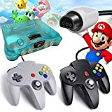 2 Pack N64 Controller, iNNEXT Classic Wired N64 64-bit Game pad Joystick for Ultra 64 Video Game Console N64 System Mario Kart (Black)