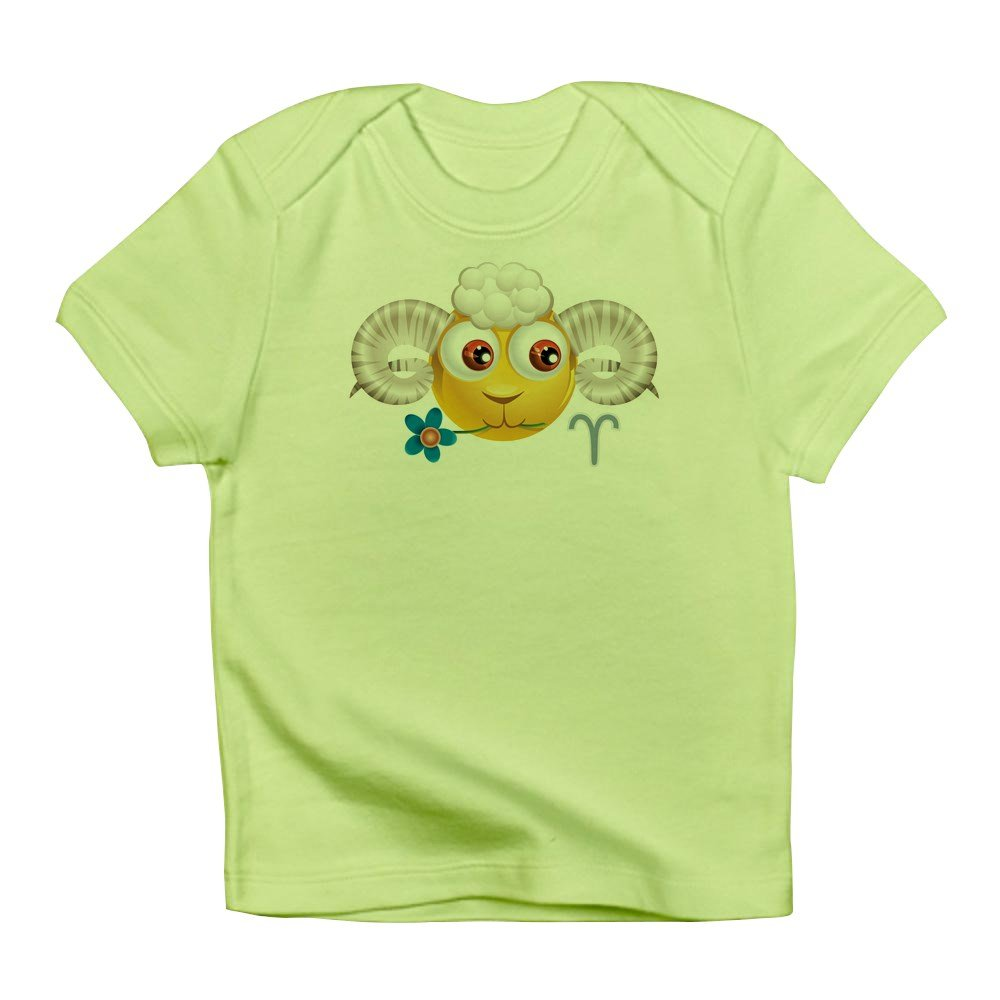 Truly Teague Infant T-Shirt Smiley Face Zodiac Aries Kiwi 3 To 6 Months