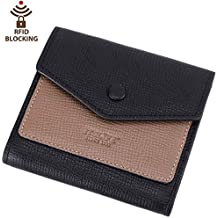 Itslife Women's Small Leather Wallet RFID Card Holder Compact Ladies Billfolds Flat Pocket Purse