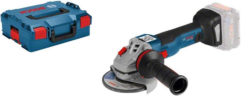 Bosch Professional GWS 18V-10 C - Amoladora angular a batería (18V, 9000 rpm, conectable, disco Ø 125 mm, sin batería, en L-BOXX)