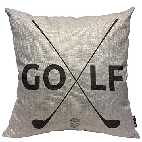 Mugod Golf Pattern Decoration Throw Pillow Cushion Covers Golf Symbol Print Funny Pillows Home Decor Couch Pillow Case 18 X 18 Inch -