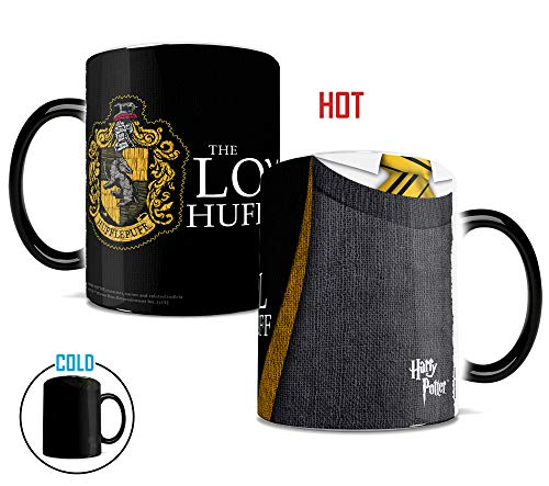 Morphing Mugs Harry Potter Hufflepuff Robe Heat Reveal Ceramic Coffee Mug - 11 Ounces