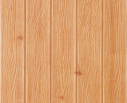 【Hilax】 木版調 3D壁紙パネル 3Dウォールステッカー 立体自己粘着シール (⑥ ブラウン / 10枚) B073F6YGM6 ⑥ ブラウン / 10枚 ⑥ ブラウン / 10枚