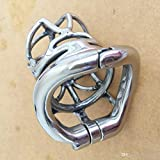 one pcs Goods Cock Lock Stainless Steel Lockable Penis Cage Cock Ring Sleeve Male Chastity Device Cage Belt Cockring Sex Toys For Men