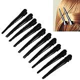 10 Pcs Black Alligator Hair Clip,Metal Single Hairpin Hair Accessory,Long 3'' DIY Hairstyle Barrettes