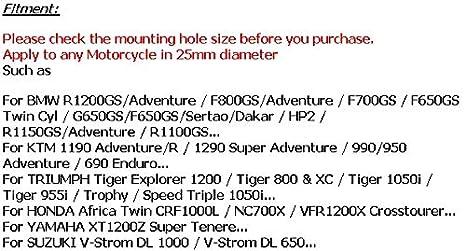 ETbotu 25 mm CNC-Aluminium-Legierung Motorschutz Sto/ßstange Motorschutz Crashbars Dekorblock Demontage f/ür BMW KTM Honda Suzuki Yamaha