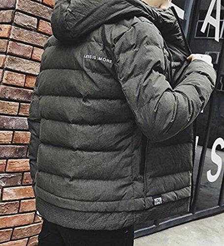 Lunga Mens uk Militare Fit Piumino Manica Verde Cappuccio Leggera Corta Con Oggi Inverno Slim wUCYpq6x6