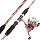 Wakeman Swarm Series Spinning Rod and Reel Combo - Rose Pink