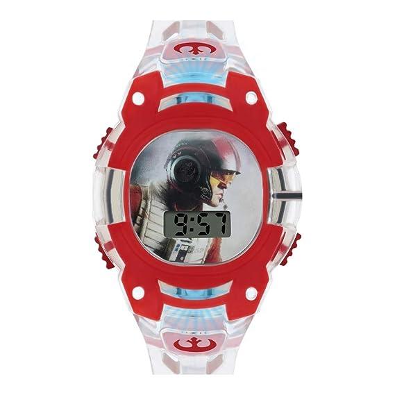 Star Wars Reloj Niños de Digital con Correa en PU SWJ4037: Amazon.es: Relojes