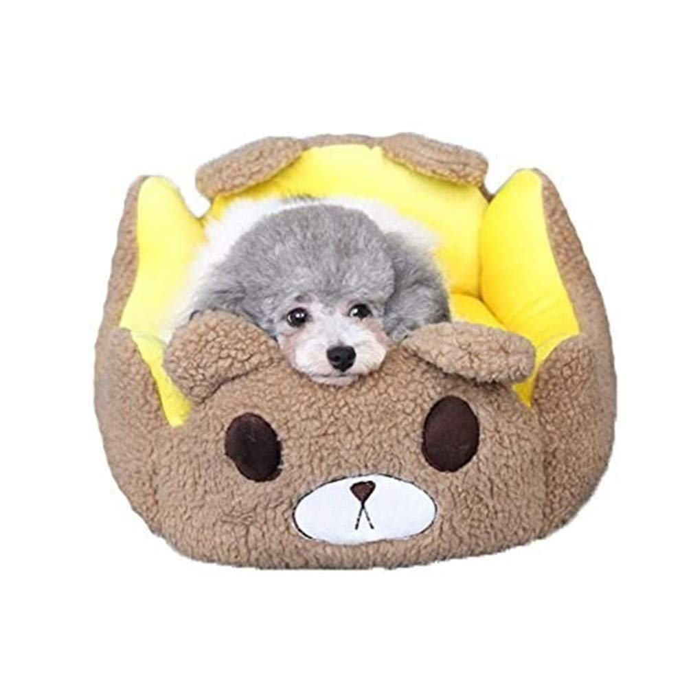 Chunchun Teddy Kennel Removable and Washable Mat Xiongji Doll Bomei Small Dog Pet Cat Cat Litter (Size : M) by Chunchun