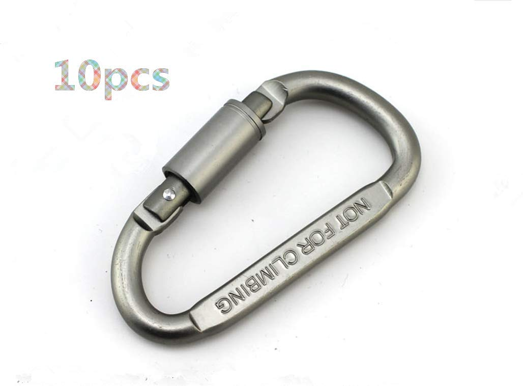 Ltd Toasis D Carabiner Clip Aluminum Spring Snap Hook Key Chain Buckle Pack of 10 Beihai Global Enterprise Co Outdoor Recreation Accessories