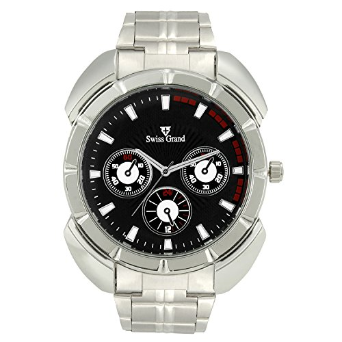 Swiss Grand SG 1164 Silver Coloured with Silver Stainless Steel Strap Analog Quartz Watch for Men