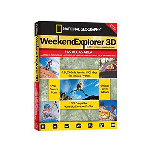 TOPO! Weekend Explorer 3D Outdoor Recreation Mapping Software (Las Vegas - Outlets Vegas North