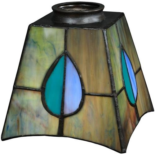 (Meyda Tiffany 24268 Mackintosh Leaf Shade, 5 sq. in.)