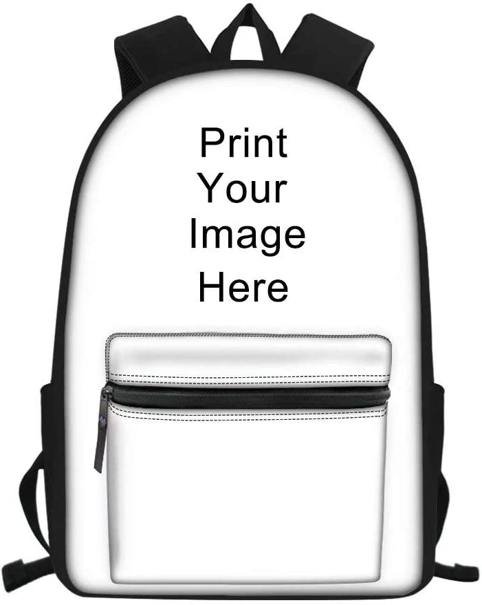 AFPANQZ Customized Backpack Multi Pockets Waterproof Bookbags Slim Lightweight Outdoor High School Daypacks Print On Demand Schoolbag Satchel Rucksack Women Men Girl Boy Personalize Gift