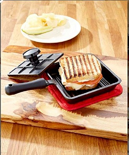 6 In Panini Cast Iron Pan Sandwich Lodge Breakfast Fry Mini Baking Bread With Press Pie Roasting Pancake Cooking Pans Kitchen Grill Cheap Tools Cookware Cooking Griddle For Gift