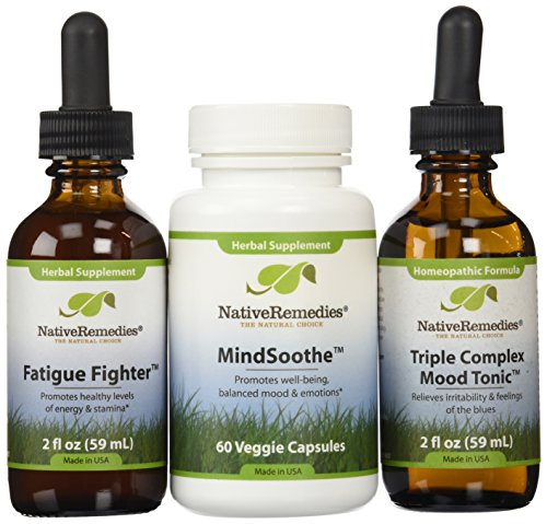 Native Remedies Mood Tonic, MindSoothe and Fatigue Fighter UltraPack ()