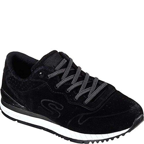 Skechers Women's Sunlite SuedeSociety Fashion Sneakers Black 6.5 B(M) US