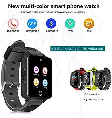 feiledi Trade - Reloj Inteligente Bluetooth 3G WiFi Quad Core Smartwatch con Ranura para Tarjeta SIM, Android5.1 teléfono Llamada 3G gsm SIM GPS TF Tarjeta ...