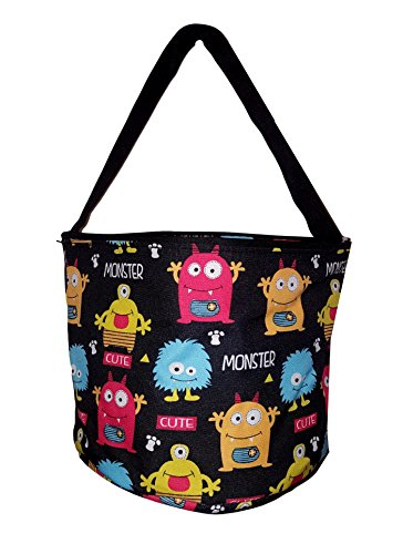 Personalized Childrens Fabric Bucket Tote Bag - Toys- Easter (Personalized, Monsters)