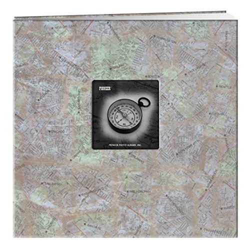Pioneer 12 Inch by 12 Inch Postbound Frame Front Memory Book, City Maps - Map Place Pioneer
