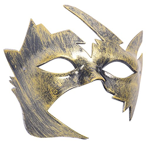 Ancient Roman Costumes In Theatre (PanDaDa Hot Sale Halloween Men's Antique Silver Gold Villain Costume Mardi Gras Masquerade Mask Party Ball)