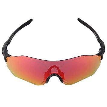 Alian Gafas, Gafas de Sol polarizadas Deportivas con 2 Lentes Intercambiables para Hombres Mujeres Ciclismo