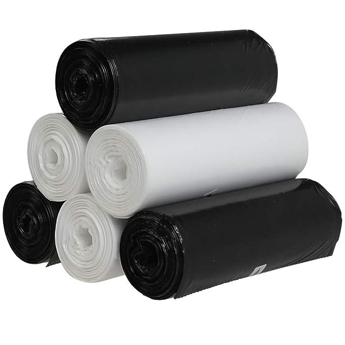 Vareone 20 Litros Blanco y Negro Bolsas para Basura Sacos de ...