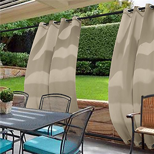 Cheap  cololeaf Indoor/Outdoor Grommet at top and bottom Solid Single Panel Window Curtain..