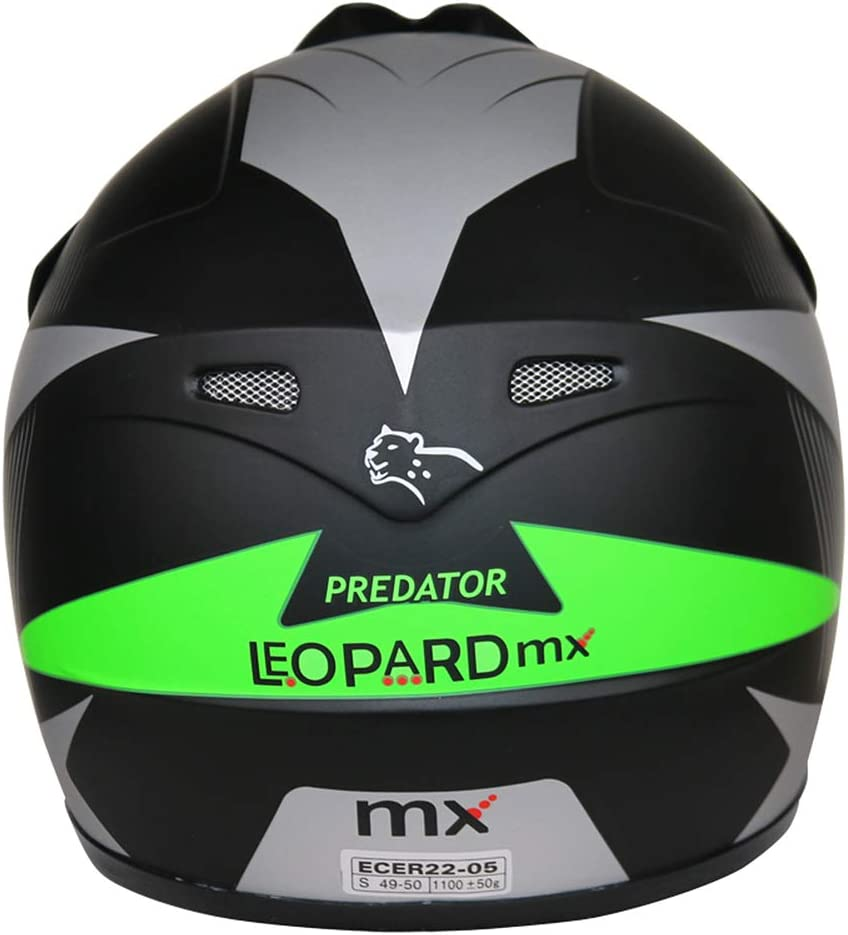 53-54cm Leopard LEO-X19 PREDATOR Kids Motocross Motorbike MX Helmet /& Gloves Blue L