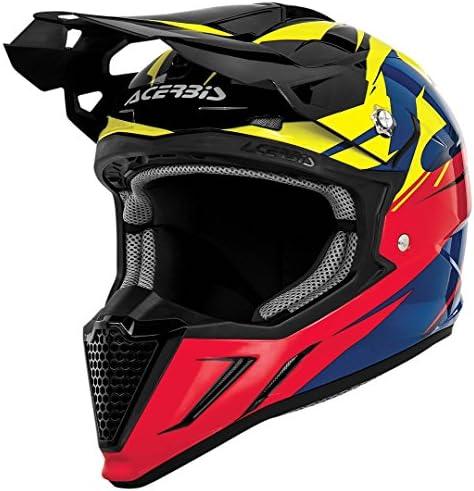 Acerbis アチェルビス Profile 2.0 Powerhead Helmet 2016モデル オフロードヘルメット ブラック/イエロー/レッド XS(53~54cm)