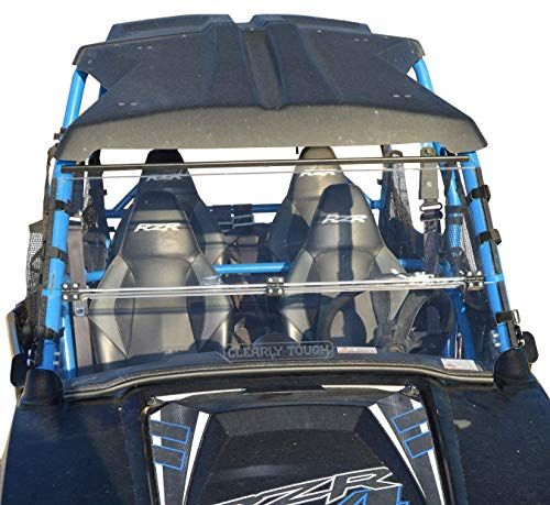Clearly Tough Polaris RZR 570/800 + 900 (2014 & Earlier) Folding Windshield -Scratch Resistant- True Full to Half. Easy on/Easy Off. The Ultimate in Side by Side Versatility! Premium Hard Coat! ()