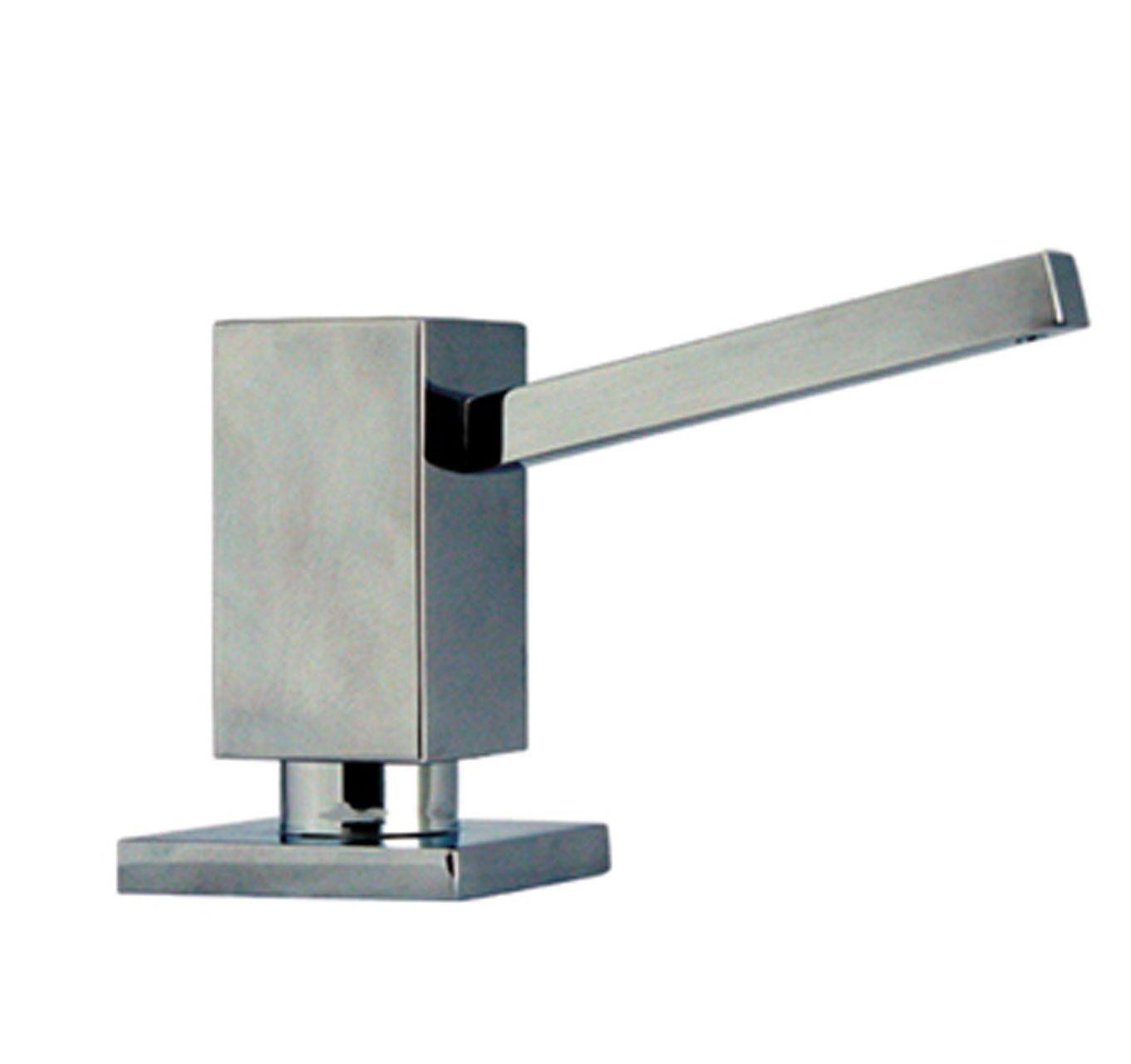 Whitehaus WHSQ-SD003-POCH Q-Haus 3 3/4-Inch Solid Brass Soap/Lotion Dispenser