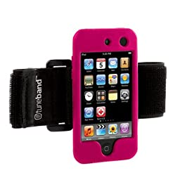 Tuneband for iPod touch 4th Generation (Model A1367, 8GB/16GB/32GB/64GB), Grantwood Technology\'s Armband, Silicone Skin, and Screen Protector, PINK