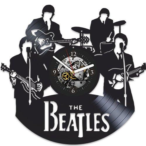 Beatles Clock, Beatles New Year Gift, Beatles Vinyl Wall Clock, Beatles Xmas Gift, Wall Clock Large, Beatles Gift For Man, Vintage Vinyl Record, The Beatles, Rock Music, John Lennon
