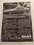 1970 Saab A Beautiful Body Isn't Everything Automobile Magazine Print Advertisement