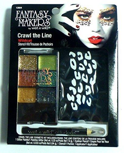 Wildcats Glitter (Fantasy Makers Crawl the Line Wildcat Halloween Stencil Kit w/Glitter Palette by Wet)
