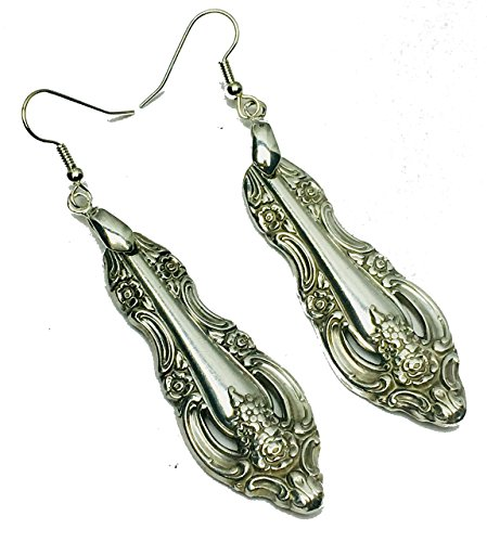 Spoon Earrings Vintage Antique 1965 Oneida Artistry
