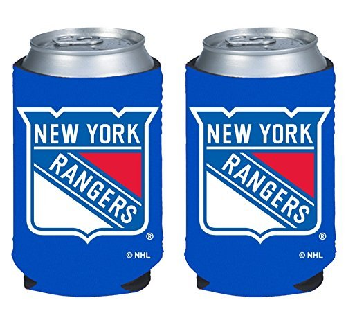 fan products of NHL Hockey 2014 Team Color Logo Can Kaddy Holder Cooler 2-Pack (New York Rangers)