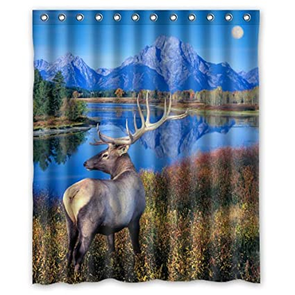 Amazon 60x72 Inches Peaceful Scenery Graceful Elk Shower