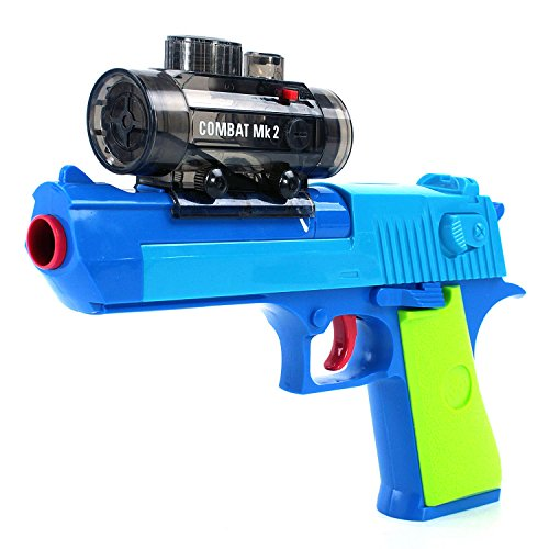Foam Dart Gun Blaster Toy - Shoot Water Ball Spring Powered, Light up Aiming Scope, Suction Darts, Clear Eco-Friendly Shooting Battle, USA Warranty & Support