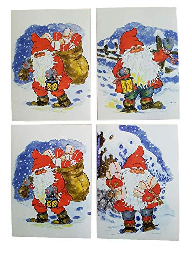 12 NEW Assorted Swedish Christmas Postcards Tomte ()